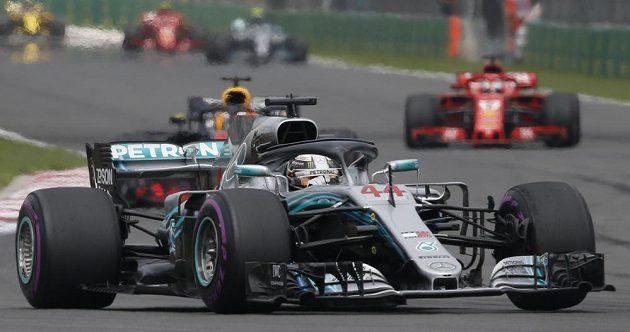 Britský pilot Lewis Hamilton při GP Mexika.