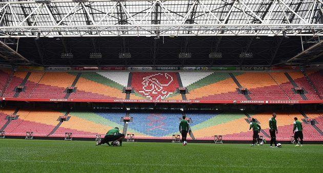 Jablonečtí fotbalisté si ve středu zatrénovali v Amsterdam Areně.
