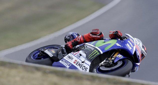 Jorge Lorenzo při kvalifikaci na brněnskou GP.