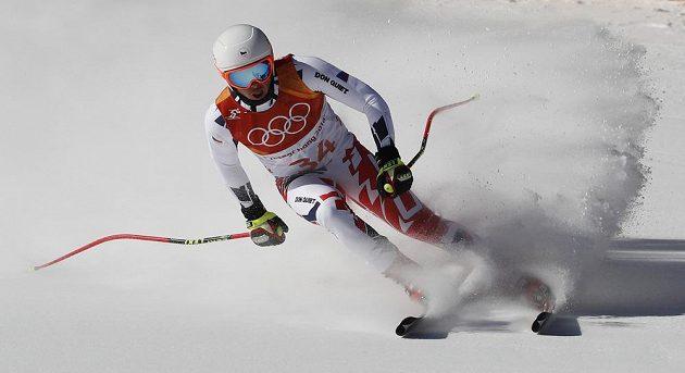 Český reprezentant Ondřej Berndt byl nejlepší z českého tria v kombinačním sjezdu olympijského závodu.