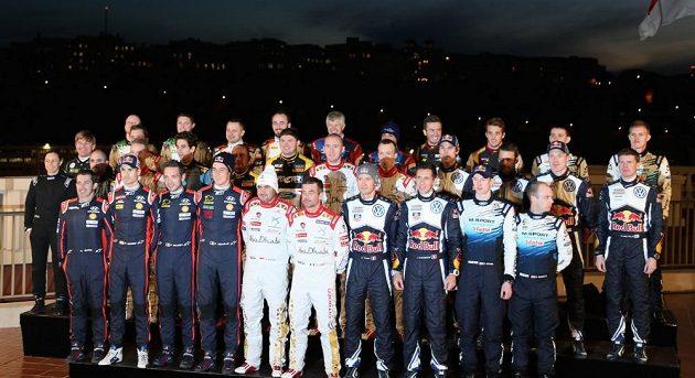 Elita mistrovství světa v automobilových soutěžích před prvním závodem v Monte Carlu.