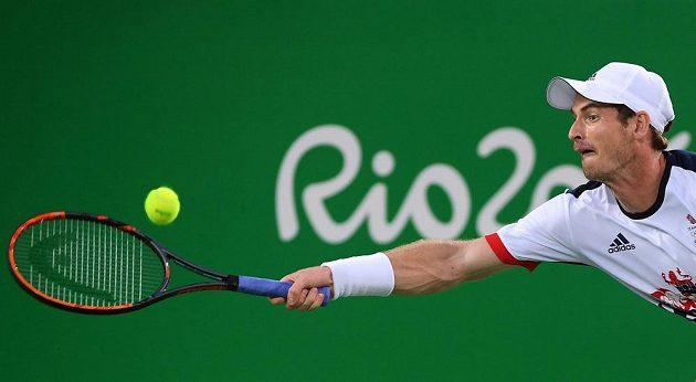 Andy Murray ve finálovém zápase na OH v Riu de Janeiro.