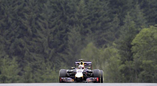Daniel Ricciardo ze stáje Red Bull při měřeném tréninku na GP Rakouska.