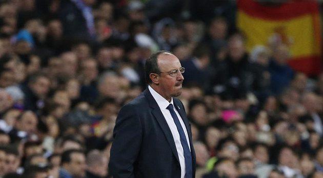 Kouč Realu Madrid Rafael Benítez při utkání s Barcelonou.