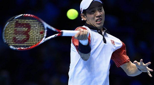 Japonský tenista Kei Nišikori na Turnaji mistrů zdolal domácího Andyho Murrayho.