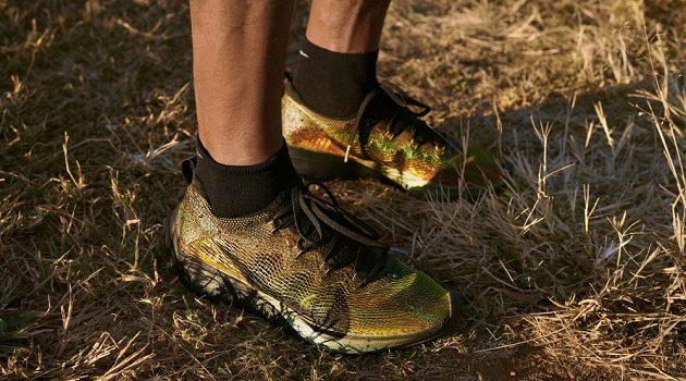 Barvy mají evokovat přirozené tréninkové prostředí Keňských běžců.