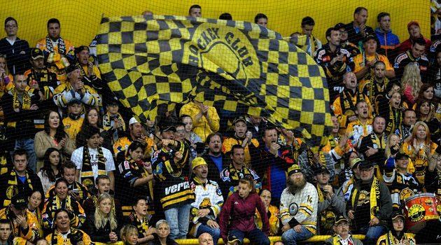 Litvínovští fanoušci během utkání se Spartou.
