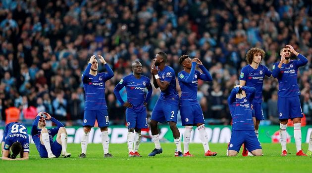 Zklamaní fotbalisté Chelsea