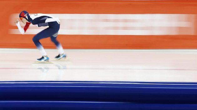 Rychlobruslařka Martina Sáblíková během olympijského závodu na 5000 metrů.