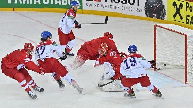 Češi dávají gól proti Rusku v úvodním duelu na MS.
