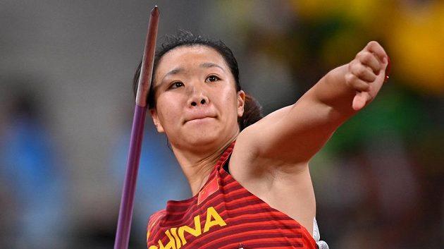 Zlatá oštěpařka v akci. Liou Š'-jing vyhrála soutěž oštěpařek jako první Číňanka v historii.