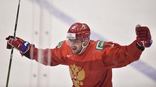 Jegor Sokolov z Ruska se raduje z gólu.