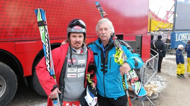 Čeký lyžařský reprezentant Ondřej Bank s otcem Ivanem.