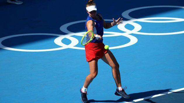 Barbora Krejčíková v prvním kole olympijského turnaje v Tokiu