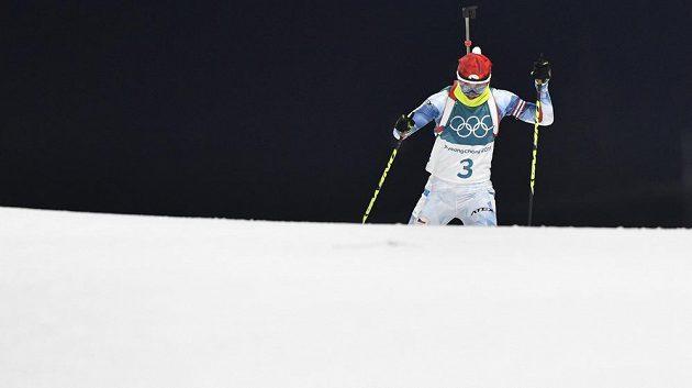 Veronika Vítková během stíhacího závodu.