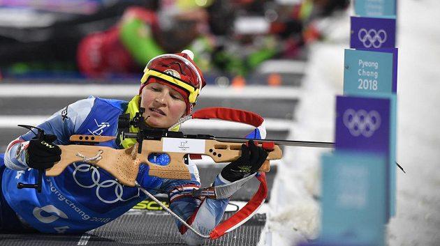 Veronika Vítková při štafetě.