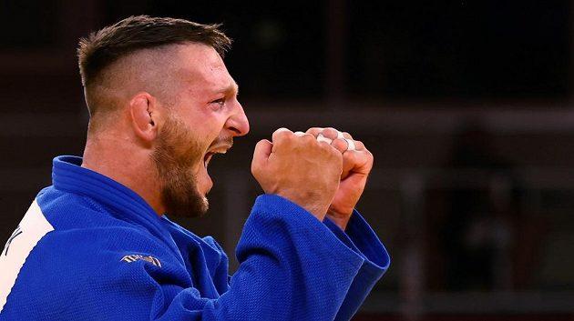 Radost Lukáše Krpálka ze zlaté olympijské medaile.