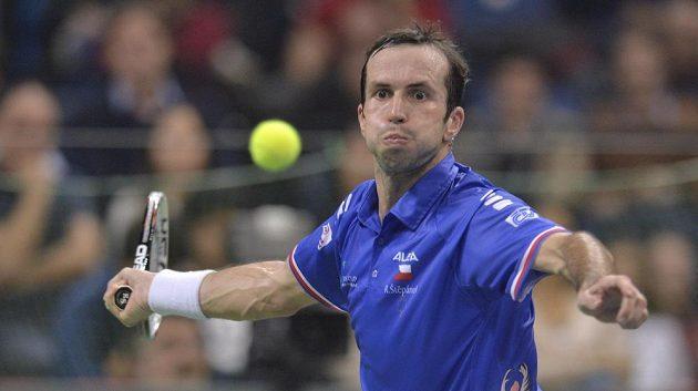 Vítězný třetí bod na konto českého týmu přidal Radek Štěpánek v utkání proti Srbovi Dušanu Lajovičovi.