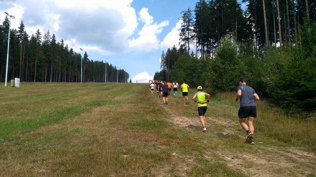 KTRC Lipenský půlmaraton – hurá do sjezdovky.