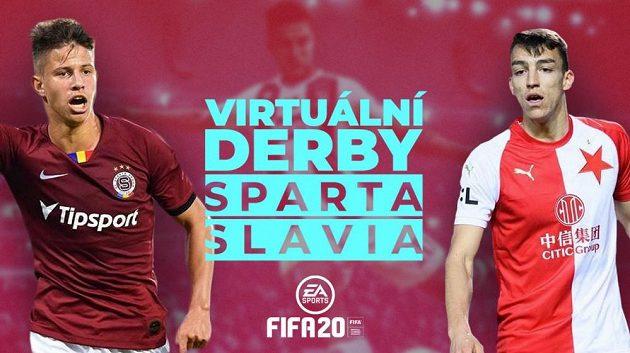 Virtuální fotbalové derby Sparta vs Slavia