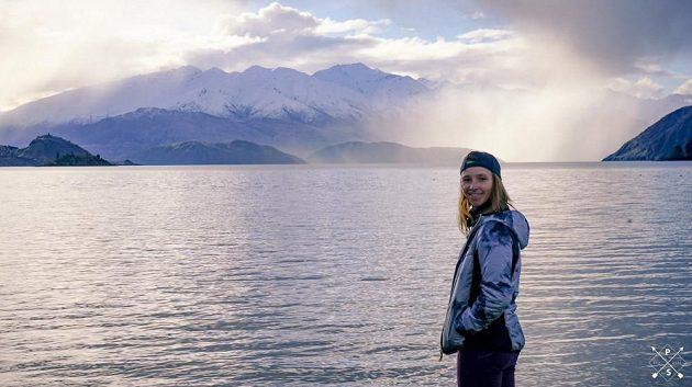 Spokojená Šárka Pančochová na Novém Zélandu.