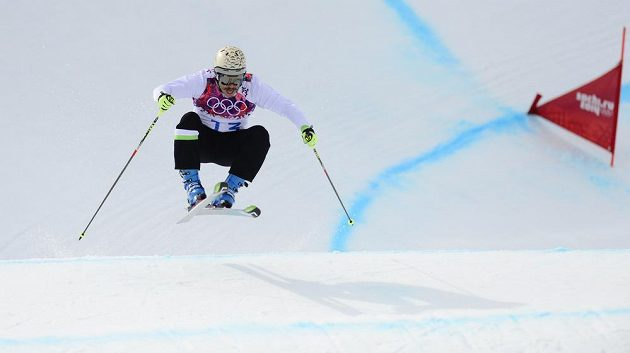 Slovinec Filip Flišar na olympijské trati v Soči.