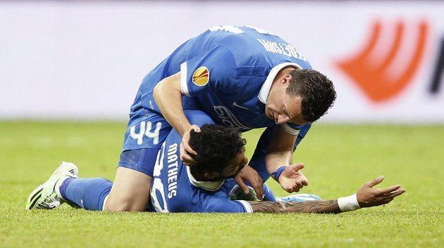 Brazilský fotbalista Matheus Leite Nascimento z Dněpru zkolaboval ve finále Evropské ligy.