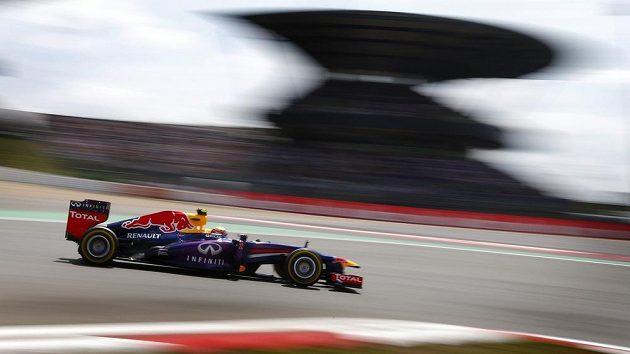 Pilot redbullu Mark Webber během Velké ceny Německa.