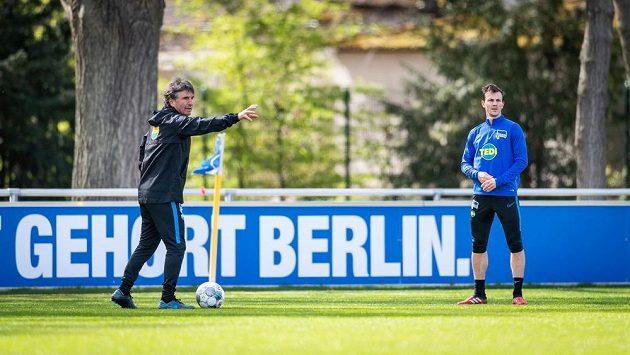 Nový hlavní kouč bundesligového týmu Hertha BSC Bruno Labbadia během tréninku.