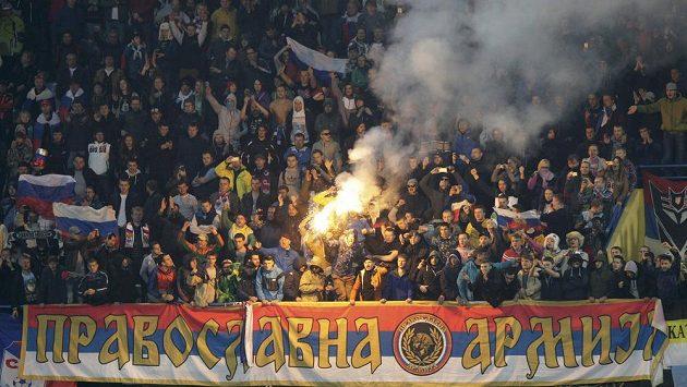 Ruští fandové v Černé Hoře.