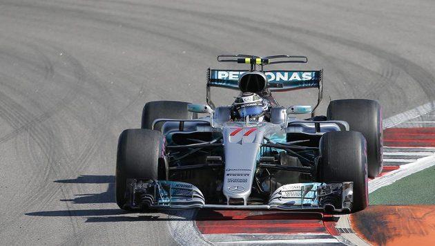Fin Valtteri Bottas na trati Velké ceny Ruska.