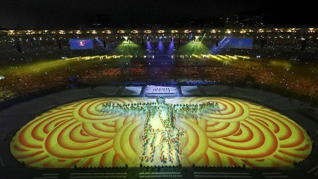 Jeden z momentů při slavnostním zakončení OH v Riu.