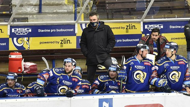 Trenér Zlína Martin Hamrlík.
