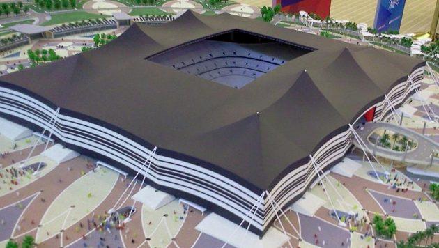 Budouci podoba Al Bayt Stadium.