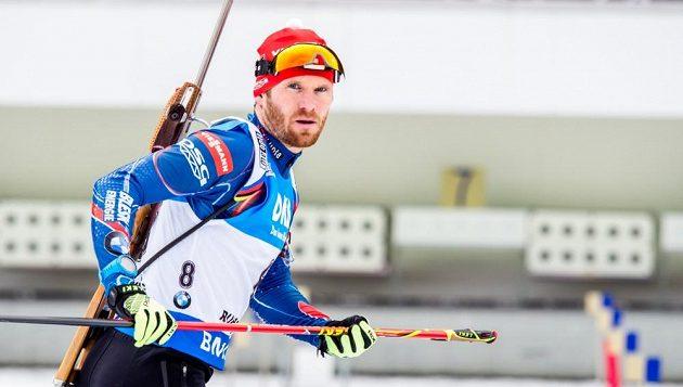 Český biatlonista Michal Šlesingr před stíhacím závodem mužů v německém Ruhpoldingu. Naváže na osmé místo ze sprintu?