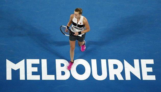 Kvitová ve finále Australian Open.