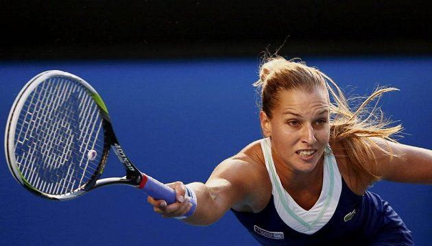 Dominika Cibulková během finále Australian Open.