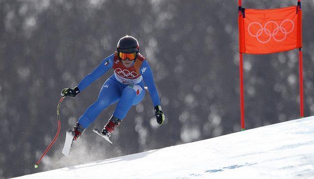 Italská lyžařka Sofia Goggiaová vyhrála olympijský sjezd v Pchjongčchangu.