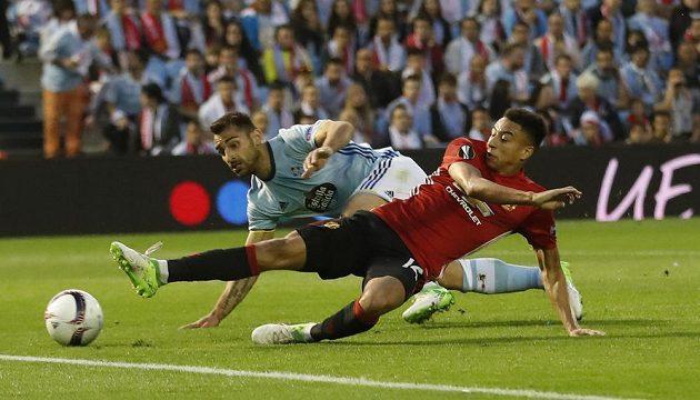 Jesse Lingard z Manchesteru United svoji možnost v gól nepřetavil.