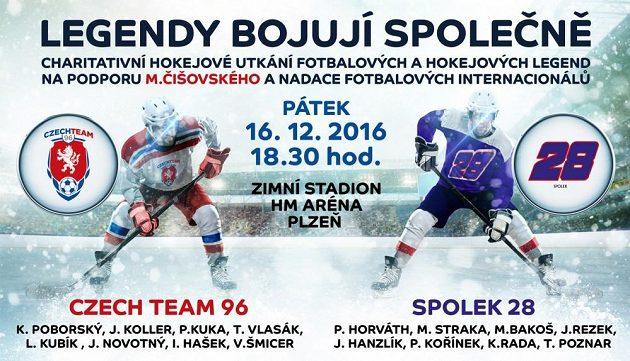 Legendy bojují společně - charitativní akce na podporu Mariána Čišovského a nadaci fotbalových internacionálů.