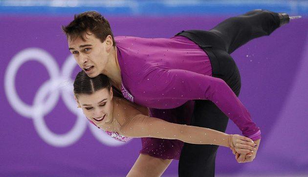 Sportovní dvojice Anna Dušková a Martin Bidař má za sebou na olympiádě krátký program.