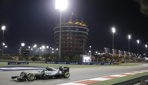 Němec Nico Rosberg během Velké ceny Bahrajnu.