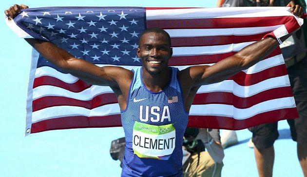 Kerron Clement, americký olympijský vítěz v běhu na 400 metrů překážek.