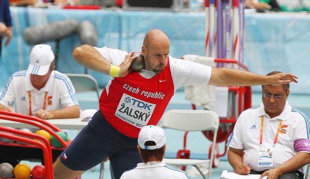 Antonín Žalský při koulařské kvalifikaci na mistrovství světa v Moskvě.