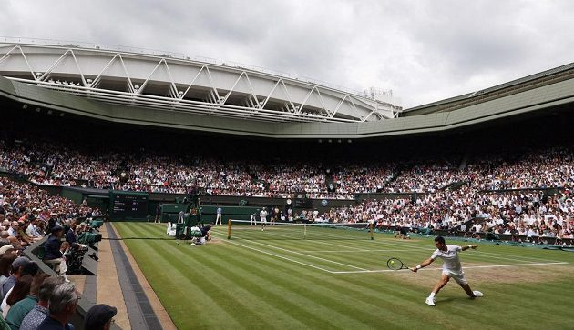 Momentka z finále Wimbledonu.