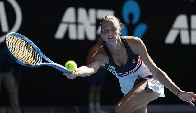 Karolína Plíšková ve čtvrtfinále v Melbourne.