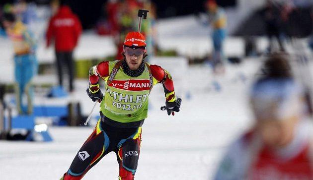 Trénink biatlonistů před závodem štafet. Na snímku Jaroslav Soukup.