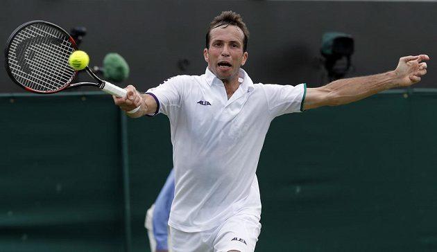 Radek Štěpánek na letošním Wimbledonu.