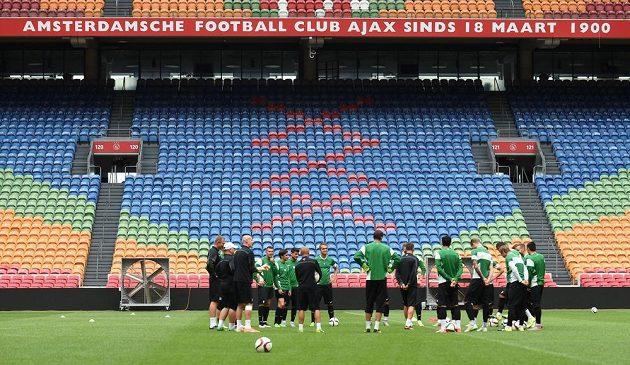 Jablonečtí fotbalisté si zatrénovali na stadiónu Ajaxu.