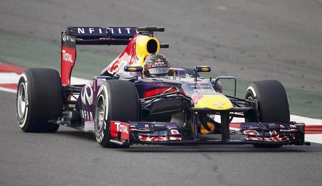 Vettel na Velké ceně Indie.